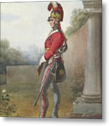 Alexander Ivanovitch Sauerweid 1783-1844 British Army. Private, Life Guards. About 1816 Metal Print