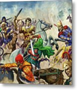 Alexander The Great At The Battle Of Issus  Metal Print