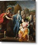 Alexander The Great Receiving The Family Of Darius IIi Metal Print