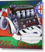 Alfa Romeo Indy Engine Metal Print