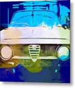 Alfa Romeo Watercolor Metal Print