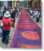 Alfombra In Purples Metal Print