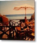 Algarve Beach Bar Metal Print