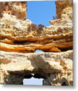 Algarve Rock Tunnel Metal Print