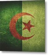 Algeria Distressed Flag Dehner Metal Print