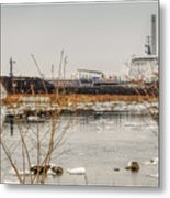 Algoma Hansa Blue Water River Walk Metal Print
