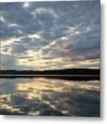 Algonquin Lake Sunset Metal Print