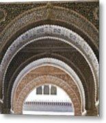 Alhambra Arches Metal Print by Jane Rix