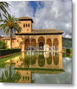 Alhambra Pool Metal Print