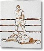 Ali Knockout Metal Print