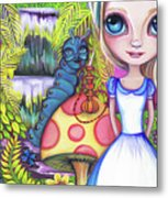 Alice And Absolem Metal Print