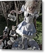 Alice And Friends 1 Metal Print