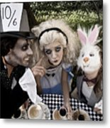 Alice And Friends 2 Metal Print