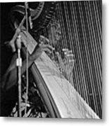 Alice Coltrane On Harp Metal Print