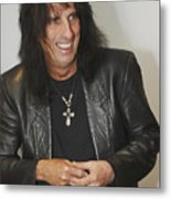 Alice Cooper Happy Metal Print