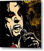 Alice Cooper Illustrated Metal Print