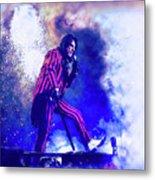 Alice Cooper On Stage Metal Print