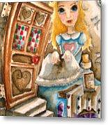 Alice In Wonderland 2 Metal Print by Lucia Stewart