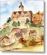 Alice's Castle Metal Print