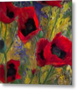 Alicias Poppies Metal Print