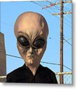 Alien Face At 6th Street Bridge Metal Print