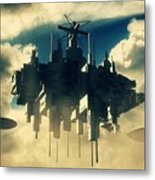 Alien Invasion By Raphael Terra Metal Print