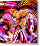 Alien Mind On Fire. Metal Print