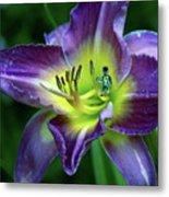 Alien On Flower Metal Print
