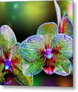 Alien Orchids Metal Print by Bill Tiepelman