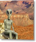 Alien Vacation - Grand Canyon Metal Print