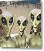 Alien Vacation - Hoover Dam Metal Print