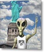 Alien Vacation - New York City Metal Print