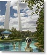 Alien Vacation - St. Louis Metal Print