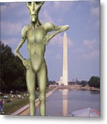 Alien Vacation - Washington D C Metal Print