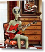 Alien Vacation - We Roll With Jazz Metal Print