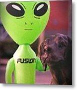Alien's Best Friend Metal Print