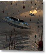 Aliens Celebrate Their Annual Harvest Metal Print by Mark Stevenson
