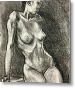 Alison Charcoal On Paper From Observation  Metal Print