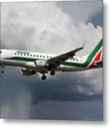 Alitalia Embraer Erj-175std Metal Print