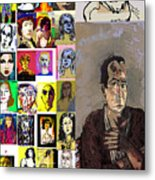 All About Faces Metal Print
