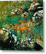 All About Trout Metal Print by Sue Duda