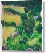 All Among The Blooming Heather Metal Print