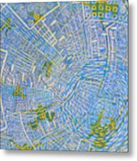 All Around In Light-blue Metal Print