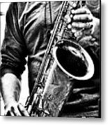 All Blues Man With Jazz On The Side Metal Print