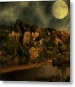 All Hallows Moon Metal Print