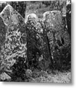 All In A Row At Fuerty Cemetery Roscommon Ireland Metal Print