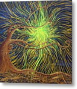 All Is Woven By The Light Metal Print