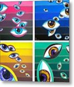 All Pictures With Eyes Metal Print