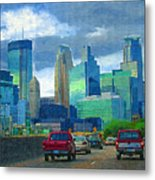 All Roads Lead To Minneapolis Metal Print