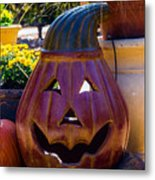 All Smiles For Halloween Metal Print